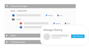 Manage sharing with external vendors and third party contractors