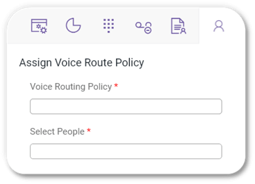Direct Voice Routing -  Assign Voice Route Policy