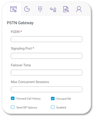 Direct Voice Routing - PSTN Gateway