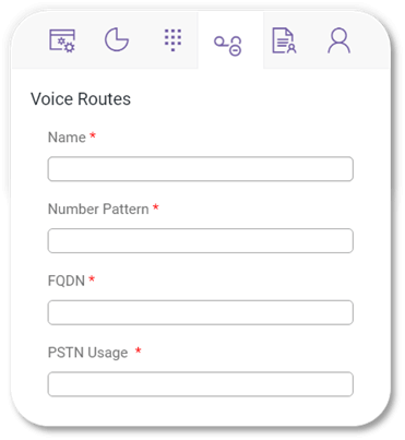 Direct Voice Routing - Voice Routes