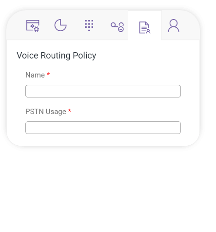 Direct Voice Routing - Voice Routing Policy