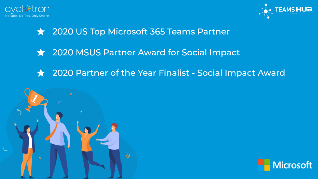 TeamsHub Award for Social Impact and Top Teams Partner